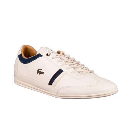 Lacoste ανδρικό sneaker MISANO 118 2 CAM OFF WHT/NVY LEATHER/SYNTETIC/SUEDE 7-35CAM0081WN1 λευκό